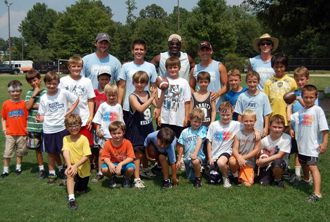Flag football team members at the YMCA of Greater Charlotte