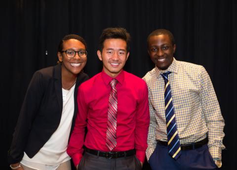 Three students at YMCA Y achievers program
